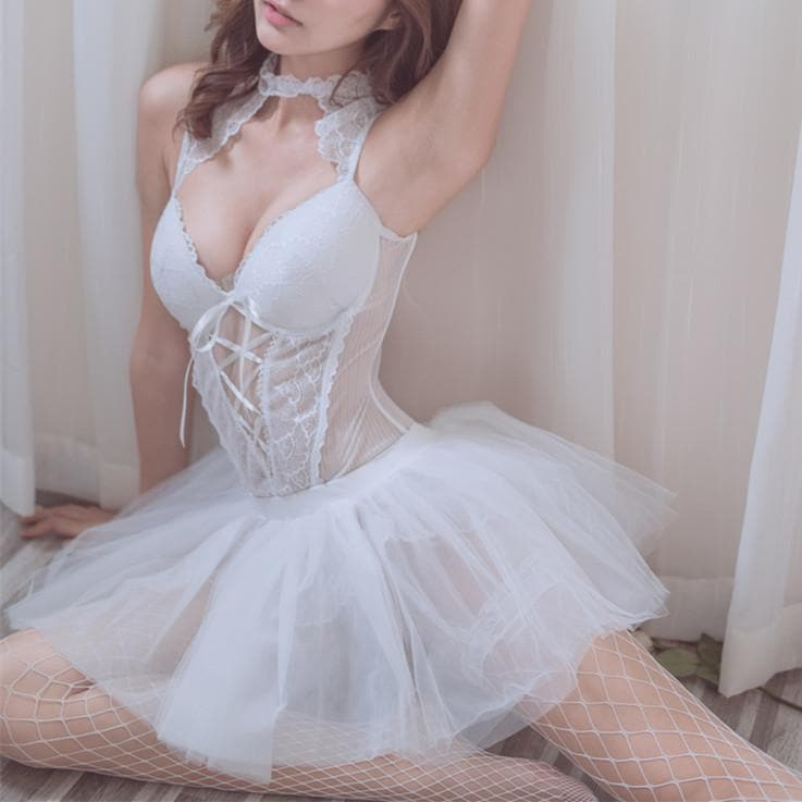 White Sweet Lolita Swan Ballet Dress SP13272