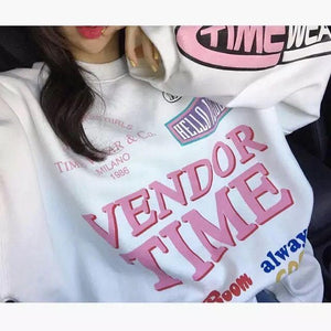 White VENDOR TIME Pullover Jumper SP14175