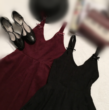 Load image into Gallery viewer, Wine/Black Elegant Bowknot Dress SP1710837