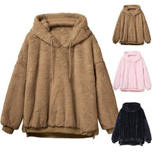 Load image into Gallery viewer, Winter Warm Hooded Tops Loose Soft Cute Pullover SY13169