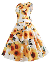 Load image into Gallery viewer, Yellow And White Sunflowers Dress SP13895