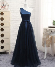 Load image into Gallery viewer, A Line Tulle One Shoulder Long Prom Dress - SpreePicky FreeShipping
