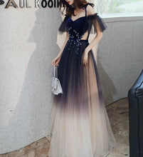 Load image into Gallery viewer, Gradient Galaxy Paillette Maxi Party Dress SP14711