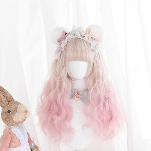 Cherry Puff Mixed Lolita Long Curl Wig SP14606