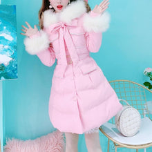 Load image into Gallery viewer, Black/Pink Slim Fluffy Coat SP14600 - SpreePicky FreeShipping