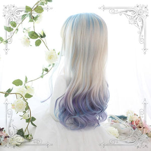 Gradient Mixed Color Lolita Long Curl Wig SP14542