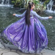 Load image into Gallery viewer, Elegant Purple Starry Sky Chinese Style Hanfu SP15179