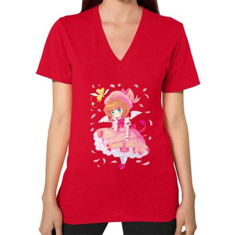 Wonderful Sakura V-Neck Woman Tee Shirt - SpreePicky  - 12