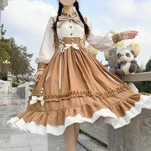 Load image into Gallery viewer, Cute Bowknot Wavy Edge Splice Lolita Dress SP15173