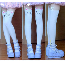 Load image into Gallery viewer, Screaming! Sailor Moon Luna Artemis Kitten with Tail on Back Legging Tights SP141305 - SpreePicky  - 3