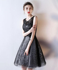 Black Tulle A Line Short Prom Dress, Homecoming Dress - DelaFur Wholesale