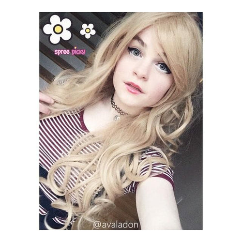 Harajuku Lolita  Cosplay Golden Curly Wig 31.5INCH SP130004