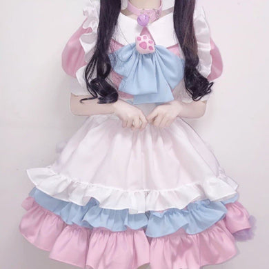 Lovely Lolita Pink Maid Dress SP15161