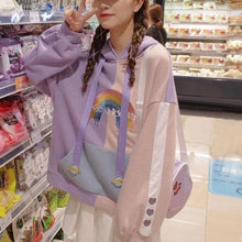 Load image into Gallery viewer, Unicorn Ears Wings Rainbow Love Heart Hoodie Pullover SS0787