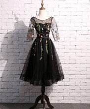 Load image into Gallery viewer, Black Tulle Short Prom Dress, Homecoming Dress - DelaFur Wholesale