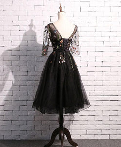 Black Tulle Short Prom Dress, Homecoming Dress - DelaFur Wholesale