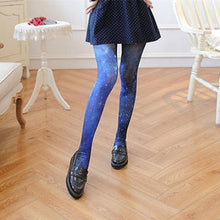 Load image into Gallery viewer, Blue Galaxy Lolita Velvet Tights S12843