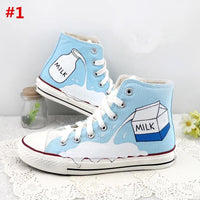 Blue Milk Canvas Shoes S12764