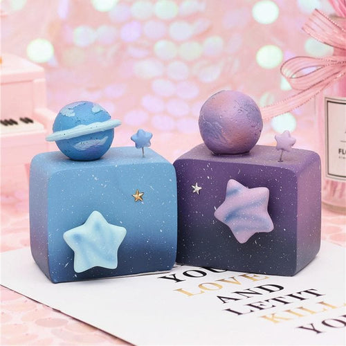 Blue/Purple Revolving Galaxy Music Box SP13784