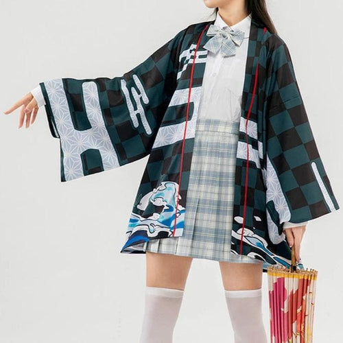 Demon Slayer Kamado Tanjirou Cosplay Kimono SP14707