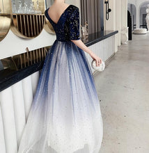 Load image into Gallery viewer, Fairy Gradient Galaxy Velvet Maxi Dress SP14613 - SpreePicky FreeShipping