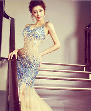 Load image into Gallery viewer, Stylish Mermaid Beading Long Prom Dress, Meremaid Evening Dress - DelaFur Wholesale