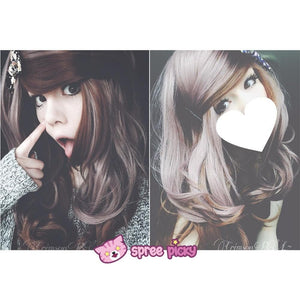 HARAJUKU Lolita cosplay Lovely curly brown wig SP130190 - SpreePicky  - 3