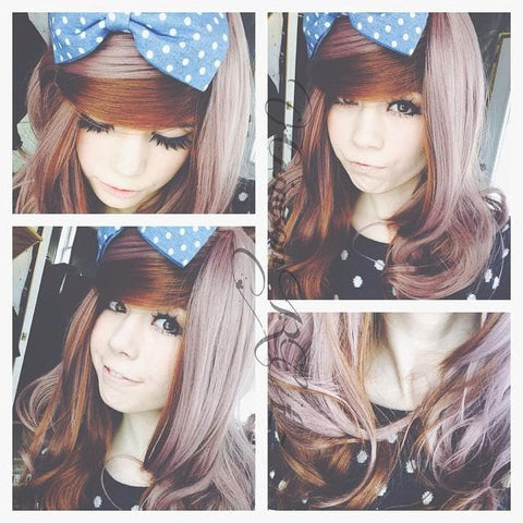 HARAJUKU Lolita cosplay Lovely curly brown wig SP130190 - SpreePicky  - 2