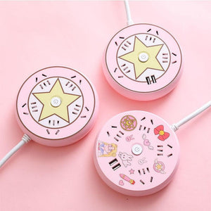 Lovely Multi Function Round USB Sailor Moon Socket Junction Board SS0618