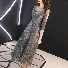Load image into Gallery viewer, 3 Colors Elegant Leaves Paillette Tulle Party Dress SP14698 - SpreePicky FreeShipping