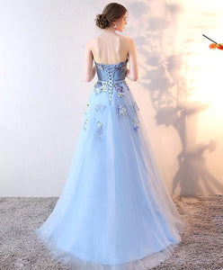 Stylish Tulle Lace Long Prom Dress, Lace Evening Dress - DelaFur Wholesale