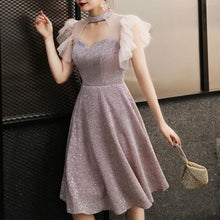 Load image into Gallery viewer, Pink Elegant Paillette Choker Party Dress SP14699 - SpreePicky