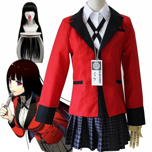 Anime Kakegurui Yumeko Trigger Happy Havoc Cosplay Costumes SP15433