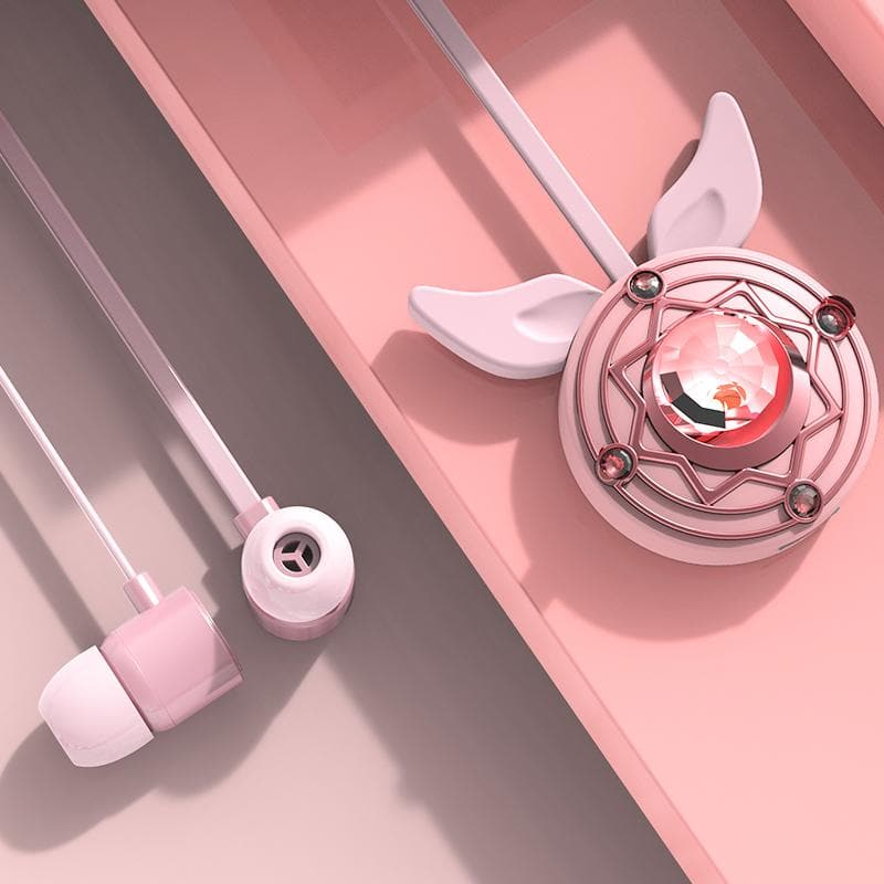 Pink Kawaii Star Wings Bluetooth Headset  SP14410