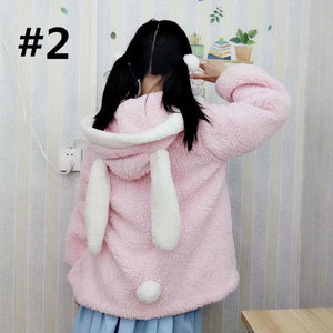 Kawaii Lolita Rabbit Ear Puffy Sleeve Hoodie Jumper SP15166