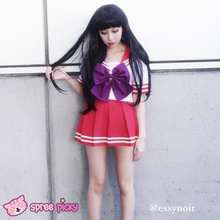 Load image into Gallery viewer, Daily Cosplay [Sailor Moon] Sailor Mars Hino Rei Red Seifuku Unfirom SP151743-SP151744 - SpreePicky  - 3