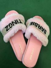 Load image into Gallery viewer, Crystal Diamonds Fur Slippers SP391 - SpreePicky FreeShipping