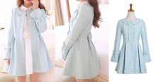 Load image into Gallery viewer, S/M/L Light Blue Princess Bow Lace Coat SP154532 - SpreePicky  - 2