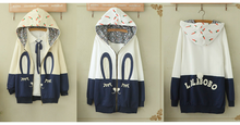 Load image into Gallery viewer, White/Beige Cutie Bunny Long Sleeve Jacket Coat SP153473 - SpreePicky  - 3