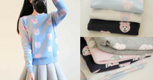 Load image into Gallery viewer, 4 Colours Kawaii Bear Long Sleeve Sweater SP154658 - SpreePicky FreeShipping