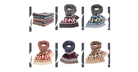 4 Colours Man Style Winter Scarf SP154068 - SpreePicky  - 2