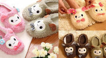 Load image into Gallery viewer, 4 colors Kawaii Cutie Animal Alpaca Fleece Home Slippers SP153521 - SpreePicky  - 2