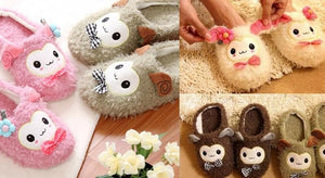 4 colors Kawaii Cutie Animal Alpaca Fleece Home Slippers SP153521 - SpreePicky  - 2