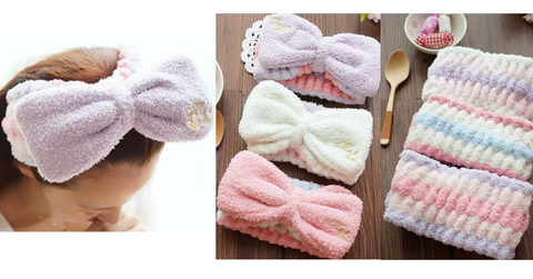 6 Colors Big Bow Fleece Hair Band For Make Up SP164927 - SpreePicky  - 2