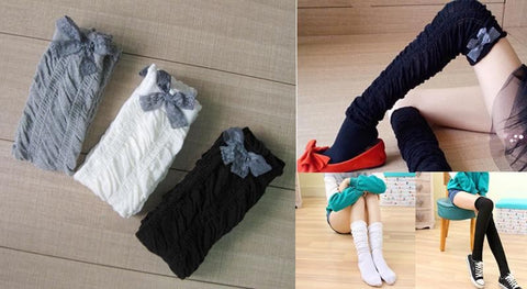 5 Colors Bowknot Thigh High Long Socks SP153529 - SpreePicky  - 3