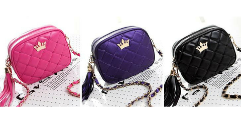 5 Colors Little Crown Shoulder Bag SP154297 - SpreePicky  - 3