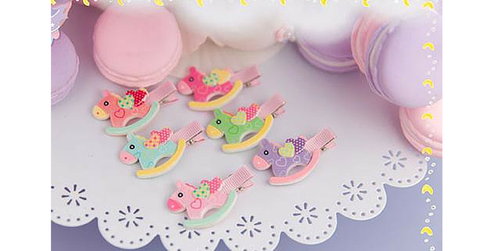 6 Colors Cutie Horse Hair Clip SP153783 - SpreePicky  - 2