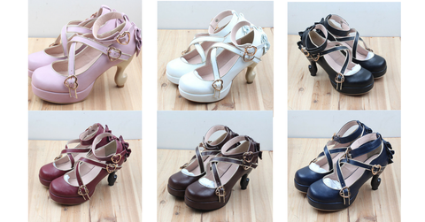 6 Colors Lolita Table Leg High Heels Platform Shoes SP154528 - SpreePicky  - 2