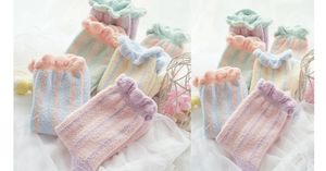6 Colors Pastel Candy Fleece Socks SP164905 - SpreePicky  - 2
