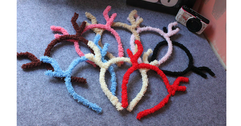 8 Colours Plush Reindeer Ears Hair Band  SP154107 - SpreePicky  - 2